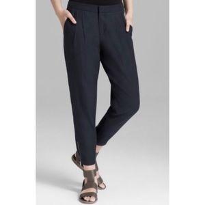 Vince zip/elastic ankle cropped jogger pants